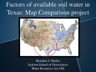 Factors of available soil water in Texas: Map Comparison project