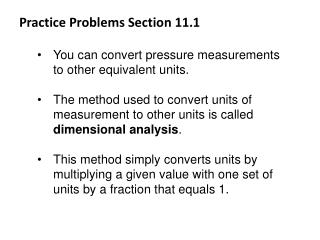 Practice Problems Section 11.1