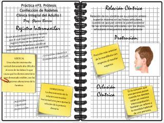 Práctica nº3. Prótesis Confección de Rodetes Clínica Integral del Adulto I