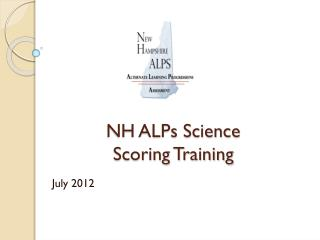 NH ALPs Science  Scoring Training