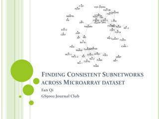 Finding Consistent Subnetworks across Microarray dataset
