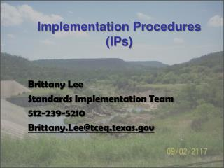 Implementation Procedures (IPs)