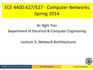 ECE 4400:427/527 - Computer Networks Spring  2014