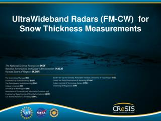 UltraWideband  Radars (FM-CW)  for Snow Thickness  Measurements
