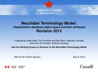 METIS 2013 Work Session 				May 6, 2013