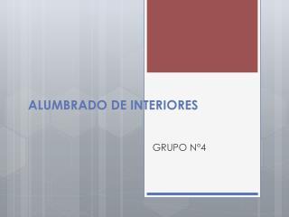 ALUMBRADO DE INTERIORES
