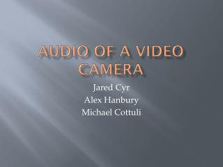 Audio of a video camera