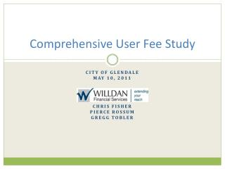 Comprehensive User Fee Study