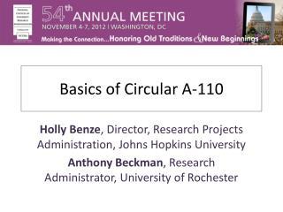 Basics of Circular A-110