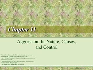 Aggression: Its Nature, Causes, and Control