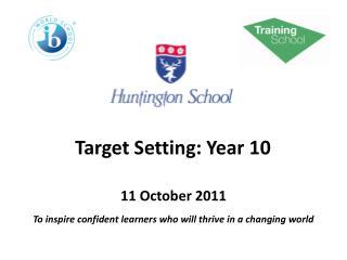 Target Setting: Year 10