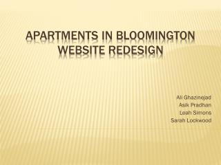 Apartments in Bloomington Website Redesign