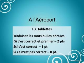 A  l'Aéroport