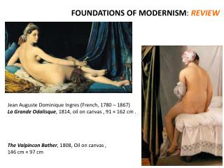 FOUNDATIONS OF MODERNISM :  REVIEW
