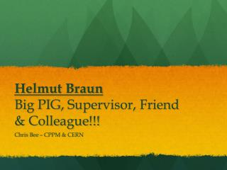 Helmut Braun Big PIG,  S upervisor, Friend & Colleague!!!
