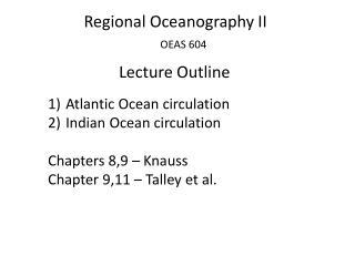Regional Oceanography  II