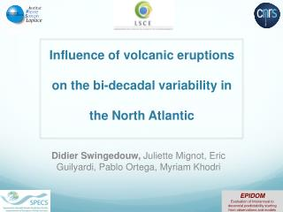 Influence of volcanic eruptions on the bi-decadal variability in the North Atlantic