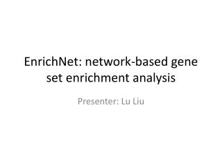 EnrichNet : network-based gene set enrichment analysis