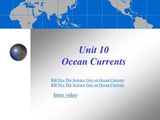Unit 10  Ocean Currents