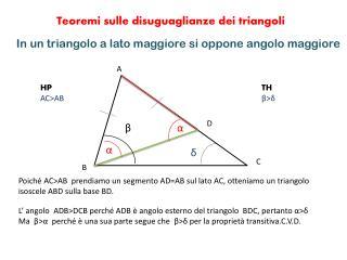 In un triangolo a lato maggiore si oppone angolo maggiore