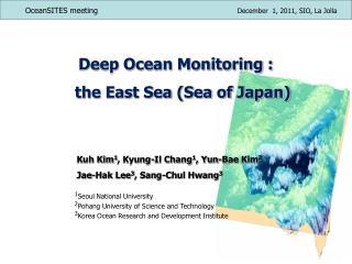 Deep Ocean Monitoring :     the East Sea (Sea of Japan)