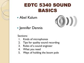 EDTC 5340 SOUND BASICS