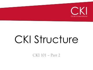 CKI Structure