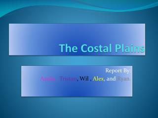 The Costal Plains