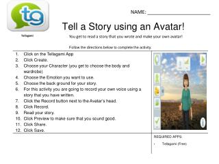 Tell a Story using an Avatar!