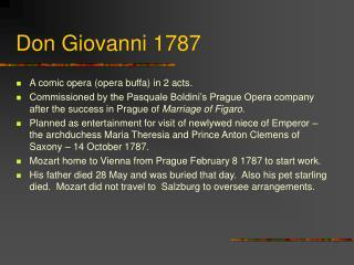 Don Giovanni 1787