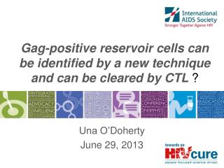 Gag-positive reservoir cells can be identified by a new technique and can  be cleared by CTL  ?
