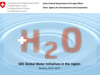 SDC Global Water Initiatives  in the  region Geneva, 24.01.2013