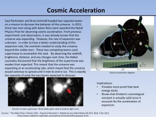 Cosmic Acceleration