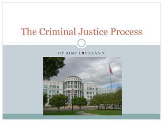 The Criminal Justice Process
