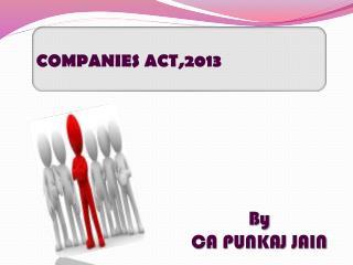COMPANIES ACT,2013