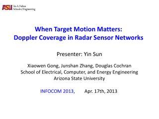 When Target Motion Matters:   Doppler Coverage in Radar Sensor Networks