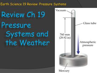 Earth Science 19 Review: Pressure Systems