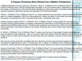 A Classic Christmas Story Retold from a Modern Perspective