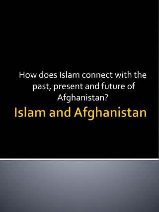 Islam and Afghanistan