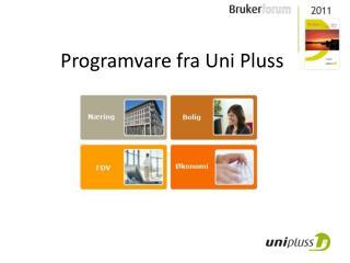 Programvare fra  Uni  Pluss
