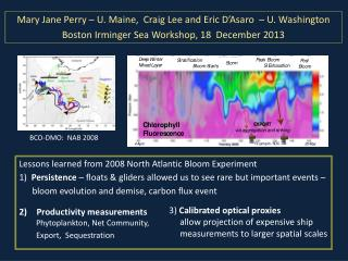 Lessons learned from 2008 North Atlantic Bloom Experiment