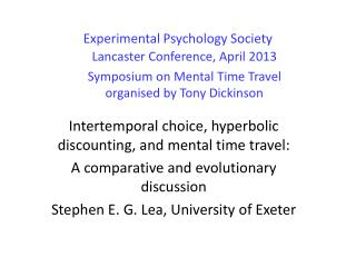 Experimental Psychology Society