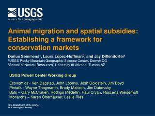 Animal migration and spatial subsidies:  Establishing  a framework  for conservation markets