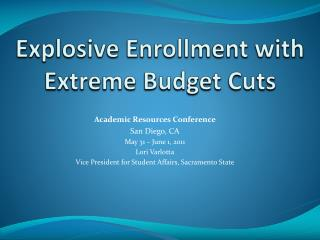 Explosive Enrollment with Extreme Budget Cuts