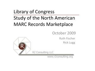 Library of Congress  Study of the North American MARC Records Marketplace