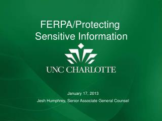 FERPA REFRESHER AND UPDATE