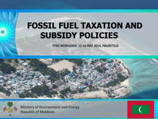 fossil fuel taxation and subsidy policies              FFRE workshop, 12-16 May 2014 ,  Mauritius