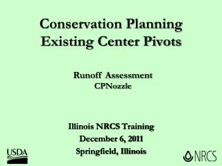 Conservation Planning Existing Center Pivots