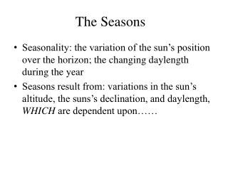 The Seasons��