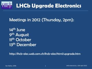 LHCb  Upgrade  Electronics